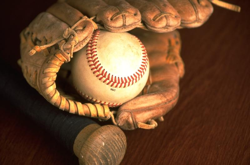 oiled baseball glove